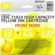 Compatible Epson 18XL T1814 Yellow High Capacity Ink Cartridge