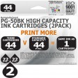 Remanufactured Canon 2 Pack PG-50BK Twin Pack High Capacity Inks