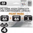 Remanufactured Canon 4 Pack PG-50BK Twin Pack High Capacity Inks
