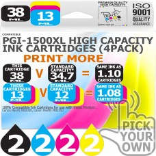 Compatible Canon 8 Pack PGi-1500XL High Capacity Ink Cartridges