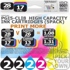 Compatible Canon 10 Pack PGi5-CLi8 High Capacity Ink Cartridges