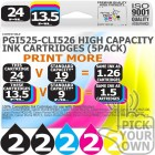 Compatible Canon 10 Pack PGi525-CLi526 High Capacity Ink Cartridges