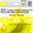 Compatible Epson (Latest Version) 33XL T3364 Yellow High Capacity Ink
