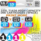 Compatible Epson 4 Pack 16XL T1636 High Capacity Ink Cartridges
