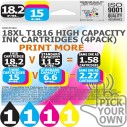 Compatible Epson 4 Pack 18XL T1816 High Capacity Ink Cartridges