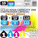 Compatible Brother 4 Pack LC123 High Capacity Ink Cartridges
