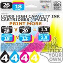 Compatible Brother 16 Pack LC900 High Capacity Ink Cartridges