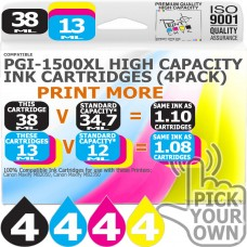 Compatible Canon 16 Pack PGi-1500XL High Capacity Ink Cartridges