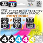 Compatible Epson (Latest Version) 20 Pack 33XL T3357 High Capacity Inks