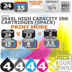 Compatible HP 20 Pack 364XL High Capacity Ink Cartridges