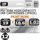 Compatible Canon 12 Pack PGi-35x2 High Capacity Ink Cartridges