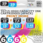Compatible Epson 24 Pack T0715 High Capacity Ink Cartridges