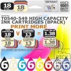 Compatible Epson 48 Pack T0540-549 High Capacity Ink Cartridges