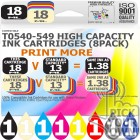 Compatible Epson 8 Pack T0540-549 High Capacity Ink Cartridges