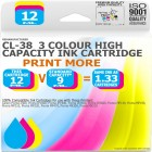 Remanufactured Canon CL-38C 3 Colour High Capacity Ink Cartridge