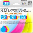 Remanufactured Canon CL-51C 3 Colour High Capacity Ink Cartridge