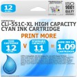 Compatible Canon CLi-551C-XL Cyan High Capacity Ink Cartridge