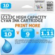 Compatible Brother LC123C Cyan High Capacity Ink Cartridge
