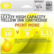 Compatible Brother LC123Y Yellow High Capacity Ink Cartridge