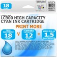 Compatible Brother LC900C Cyan High Capacity Ink Cartridge