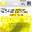 Compatible Brother LC900Y Yellow High Capacity Ink Cartridge