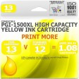 Compatible Canon PGi-1500XLY Yellow High Capacity Ink Cartridge