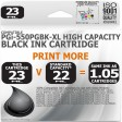 Compatible Canon PGi-550PGBK-XL Black High Capacity Ink Cartridge
